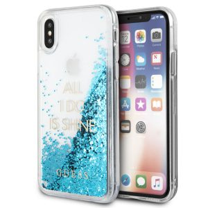 Guess ALL I DO IS SHINE Case Blauw voor iPhone X/Xs