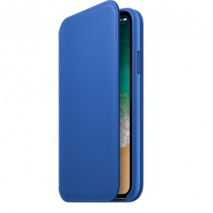 Apple iPhone X/Xs Leather Folio Blauw