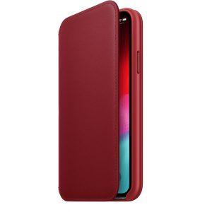 Apple iPhone X/Xs Leather Folio Rood