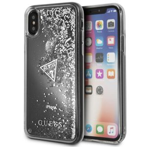 Guess Silver Glitter Back Case