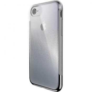 X-Doria iPhone 7/8 cover Chrome Silver transparant