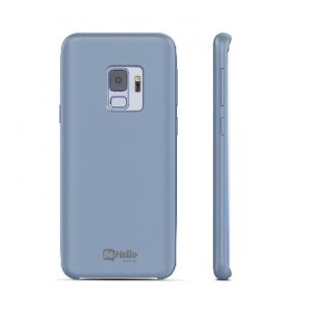 Samsung Galaxy S9 Liquid Cilicone case Blauw