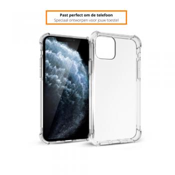 Apple iPhone 11/12 Pro Max Schokbestendige Hoes Transparant