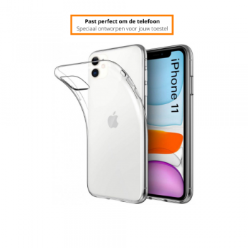 Apple iPhone 11/12 Schokbestendige Hoes Transparant