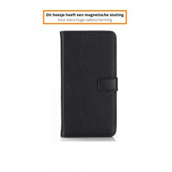 Apple iPhone XR Beschermend PU Leren Boekhoesje Zwart